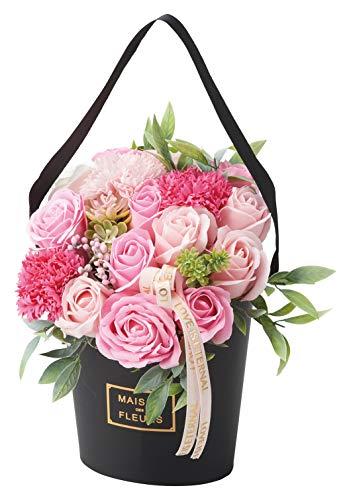 松野工業 ソープフラワー オーバルスタンド シャボンフラワー ピンク 母の日 誕生日 お祝い プレゼント