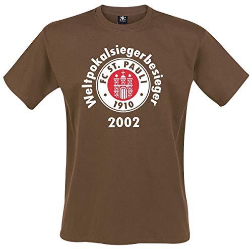 FC St. Pauli Weltpokalsiegerbesieger T-Shirt braun XL