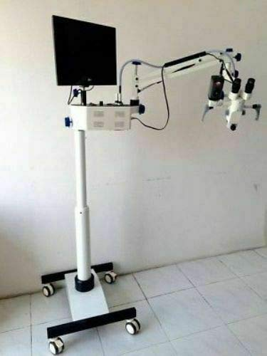 ENT Microscope 3 Step Floor Type 90° Binoculars LED HD Camera