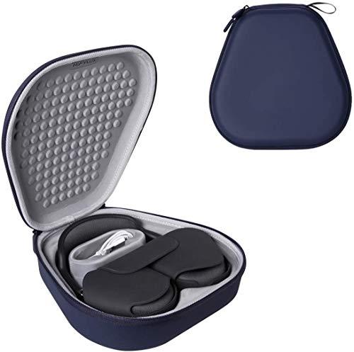Linghuang - Bolsa de almacenamiento rígida para Apple AirPods Max - Funda de protección para auriculares inalámbricos, tamaño 242 x 241 x 77 mm, color azul