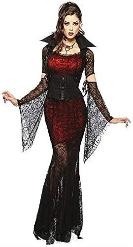 Fashion-Cos1 Transparente Spitze Sexy Kleid Hexe Vampir Maskerade Party Halloween Cosplay Kostüm Erwachsene Sommerkleid (Größe   M)