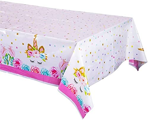 Unicorn Tablecloth Birthday- Baltimore Mall Table Cover Theme Popular -
