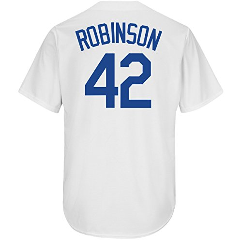 Outerstuff Jackie Robinson Brooklyn Dodgers #42 Youth Cool Base Home Jersey (Youth Medium 10/12) White