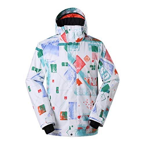GkDDZH Skipak voor heren, snowboardjas, waterdicht, winterjas, winterjas, winterjas, outdoorjas, sneeuwjack, heren