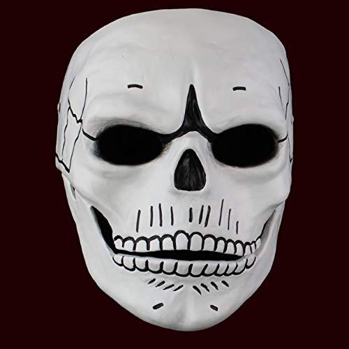 Halloween Maske Spectre Maske Schädel Skelett beängstigend Halloween Karneval Cosplay Kostüm Maskerade Ghost Party Harz Masken White