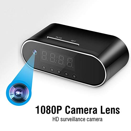 Lowest Price! WXJHA Home Security 1080P HD Clock Camera WiFi Control Concealed Night View Alarm Camc...