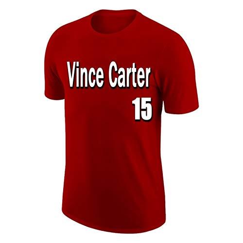 ANHPI Vince Carter # 15 Camiseta de Baloncesto Fans de los Deportes de los Hombres Jersey Cómodo y Transpirable con una Pulsera de Pulsera de Tres Piezas (Color : Red, Size : Large)