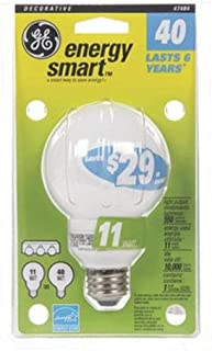 11W Energy Smart CFL Globe Light Bulb