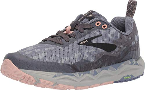 Brooks Women's Caldera 3, Grey/Pale Peach, 7.5 B