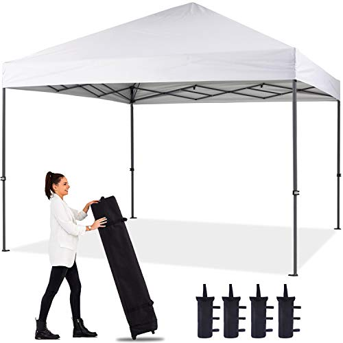 ABCCANOPY 12'x12' Pop up Canopy Instant Outdoor Tent Instant Shelter, Bonus Wheel Bag, White