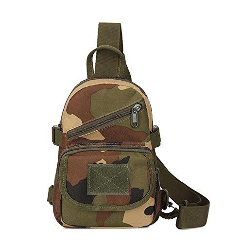 Sac à bandoulière pour hommes et femmes Paquet de poitrine de sac à dos d'extérieur de paquet de Rover Sling pour chasser le trekking de camping Daypack for Business Casual Sport Randonnée Voyage