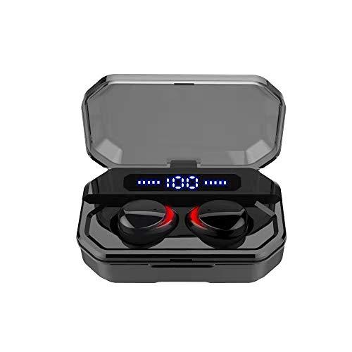 Docooler F8 Bluetooth 5.0 TWS Ohrhörer Echte Funkkopfhörer Touch Control 1500mAh Ladekasten Power Display IPX7 Wasserdichtes Mini Sport Headset mit Mikrofon USB Ausgang