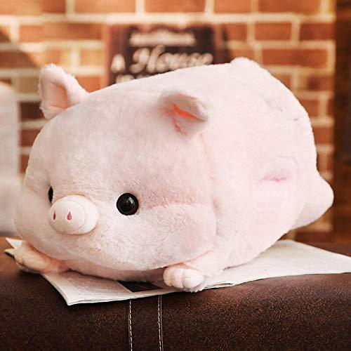 N / A 1 Unidad de Almohada de Felpa Suave Kawaii Love Pig, cojín de Animal Lindo, Calentador de Manos, muñeca de Juguete de Cerdo del Zodiaco Chino, Regalo de cumpleaños, Chico 50cm
