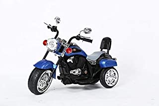Chopper Style Electric Ride ON Motorcycle for Kids - 6V Battery Powered 3 Wheel Ride ON Toy for Boys, Girls, and Toddlers - Blue