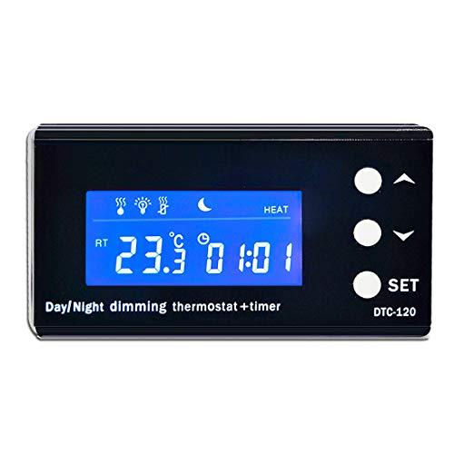 Conpush Digital Thermostat,PID Timing Temperaturregler Universeller Reptile digitaler Temperaturregler mit LCD Anzeig Temperatursteuerun für das Terrarium und Aquarium