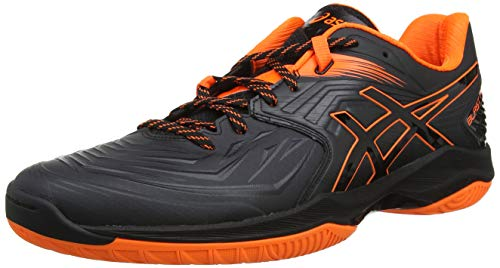 Asics Blast FF, Zapatillas de Balonmano Hombre, Negro (Black/Shocking Orange 001), 41.5 EU