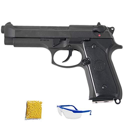 KJ Works GBB M9-HW -Pistola de Airsoft Calibre 6mm (Arma Corta de Aire Suave de Bolas de plástico o PVC). Sistema: Gas <3,5J