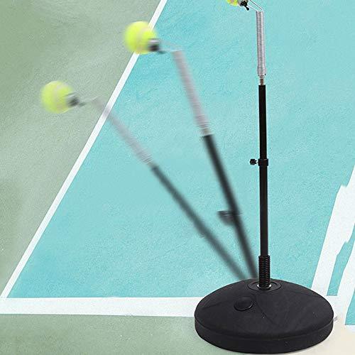 Tenis Trainer rebote de la pelota de tenis Negro Tenis máquina de bolas de plástico Actualiza portátil Tenis entrenador profesional de auto estudio Accesorios de práctica herramienta for principiantes