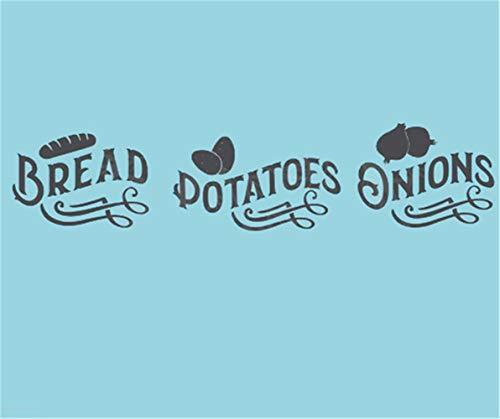 wandaufkleber spruch kind wandaufkleber kreise Brot-Kartoffel-Zwiebeln für Küche