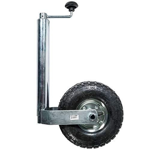 WerkaPro 10921 - Roue jockey gonflable Ø260mm support Ø48mm - Pour déplacer Caravane ou remorque - Facilite l'attelage