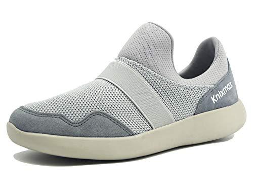 Knixmax-Zapatillas sin Cordones para Mujer, Zapatillas de Deportivo Sneakers Running Zapatillas de Malla Transpirable Zapatos para Correr Gimnasio Athletic, 36-41EU