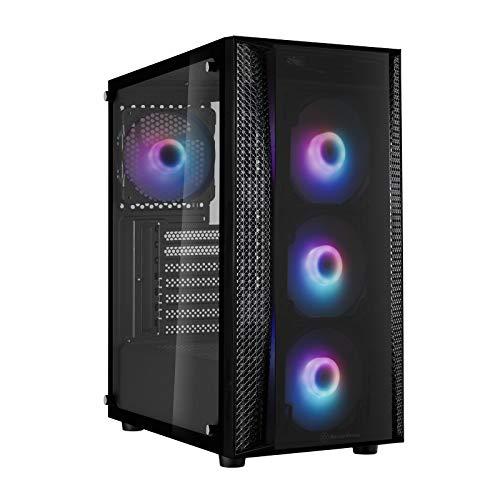 SilverStone Technology Fara B1 Pro, chasis Torre Mediano ATX de Cristal Templado, Negro, SST-FAB1B-PRO