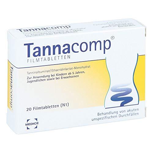 Tannacomp Filmtabletten bei Durchfall, 20 St. Tabletten