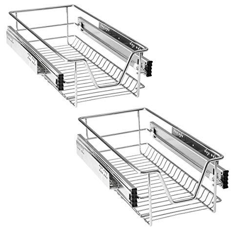 HENGMEI Cajón armario cajón extraíble cajón de cocina Estante Estantería de cocina cesta auszug Dormitorio cajón, 2x30 cm
