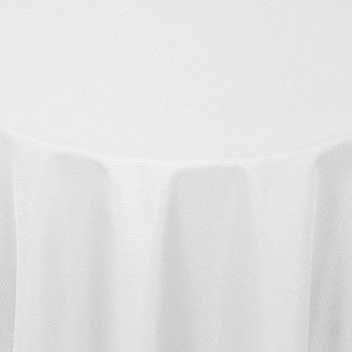 Gastro UNI Tischdecke Oval 160x280 cm Weiss - mit Saumrand - Farbe & Größe wählbar