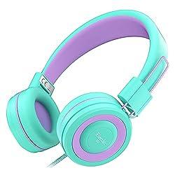top 10 kids headphones Elecder i37 Kids Headphones Kids Girls Boys Teenager Foldable Adjustable 3.5mm In-Ear Headphones…