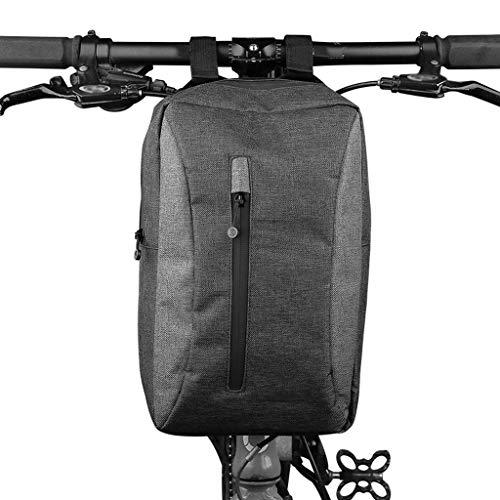 alforjas bicicleta Bolsa plegable delantera de la bicicleta del bolso del tubo...
