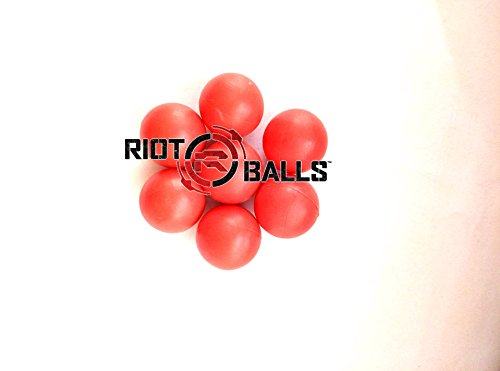 500 Count X 0.43 Cal. Red PVC/Nylon Riot Balls Self Defense Less Lethal Practice Paintball