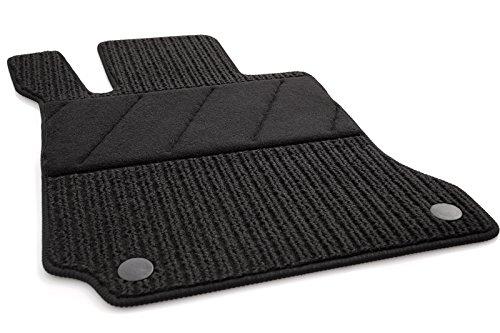 Fußmatten W204 S204 C-Klasse Rips Automatte Fahrerseite Ripsmatten Fahrermatte, Schwarz, Absatzschoner