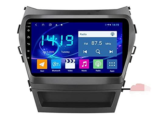 ZBHWYD Adatto per 13-17 Hyundai IX45 Santa Fe Android HD Auto Full Network GPS Navigation GPS, Android 10 8 Core 4 + 64G Autoradio Auto Radio Multimedia Player GPS Navigation (Size : 4+64G)