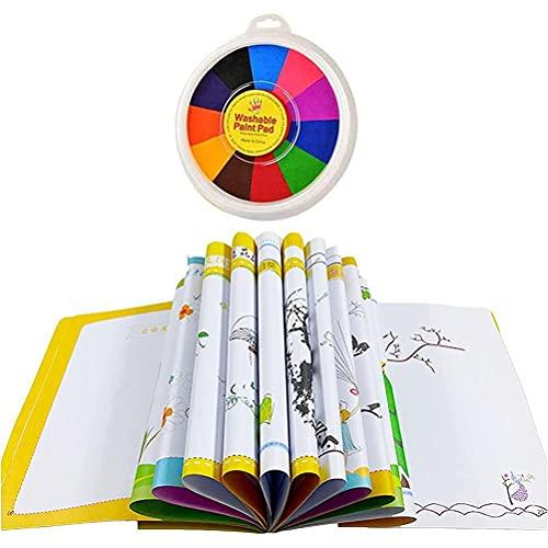 Passer Kit de pintura de dedo para bebé, proyectos de manualidades y creatividad, lavable, kit de herramientas educativas para hacer tarjetas u otras manualidades