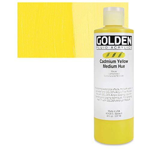 Golden : Fluid Acrylic Paint : 236ml (8oz) : Cadmium Yellow Medium Hue