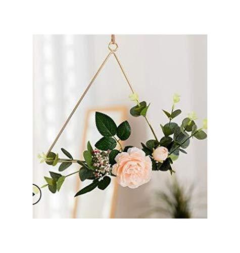 Cheryl Norri Rosen-Kranz-Bauernhof Forsythia Für Blumenhaustür oder Mantel Hochzeit Home Decor Weihnachtsgirlande Blumenbogen, A Picture5