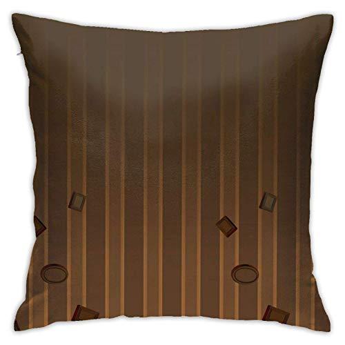 xiancheng Funda de almohada, barra de chocolate, moderna funda de cojín, cuadrada, decoración para sofá, cama, silla, coche, 45,7 x 45,7 cm