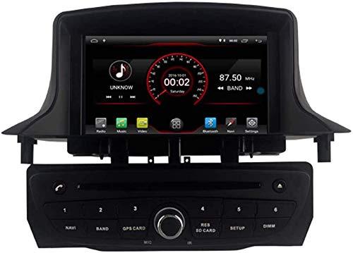 FWZJ Autosion Android 10 Car DVD Player GPS Stereo Head Unit Navi Radio Multimedia WiFi para Renault Megane 3 Fluence 2009 2010 2011 2012 2013 2014 2015 Control del Volante (Negro)