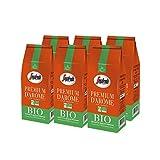 Segafredo Zanetti - Café en Grains Bio Premium d'Arôme - Fruité et Délicat - 100% Arabica - Issu de l'Agriculture Biologique - Elu Produit de l'Année 2020 - 6 Paquets de 500 grammes
