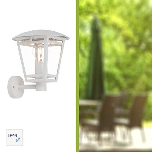 Brilliant Riley Außenwandleuchte stehend spritzwassergeschützt weiß, 1x E27 geeignet für Normallampen bis max. 40W