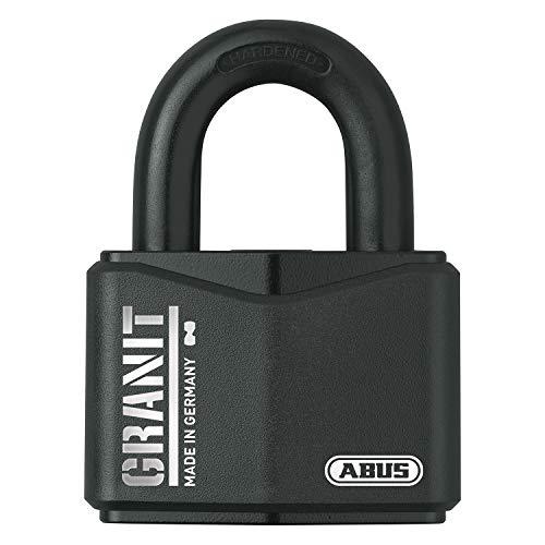 ABUS, Granit 37RK/70 SZP, 79161, hangslot, premium slot voor de hoogste eisen, verhoogde beugelbescherming, veiligheidsniveau 10, incl. 2 sleutels en veiligheidskaart, zwart