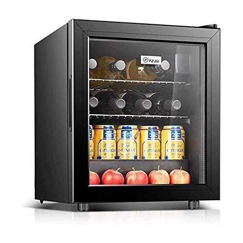 XTZJ Refrigerador de vino frigorífico con cerradura   Bodega de vino independiente grande para rojo, blanco, champán y vino espumoso   Control de temperatura digital 41F-64F Puerta de cristal de frigo