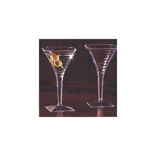 Yoshi Ware EMI Square Martini Glass, 8 Ounce - 6 per Pack - 12 Packs per case.