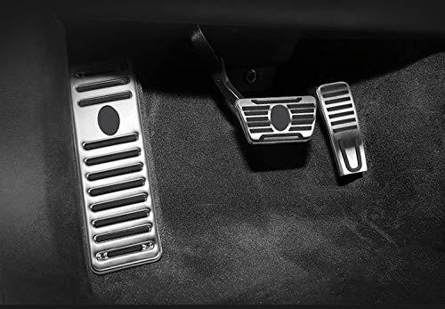 TFWYYJ Maserati Ghibli Quattroporte 2014-2017 Levante 2017 Coche Adornado Gas de Acero Inoxidable del cojín del Pedal del Freno (Color Name : Full Set 3 pcs)
