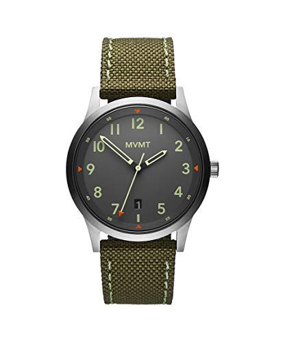 MVMT Herren Analog Quarz Uhr mit Segeltuch Armband 28000014-D