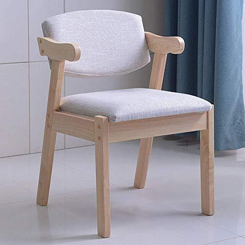 Accesorios de decoración Sillas de comedor Silla de oficina Respaldo del hogar Mesa de comedor y silla minimalista nórdica Aprendizaje Escritorio Silla Taburete (Color: Beige Tamaño: 50x50x74cm)