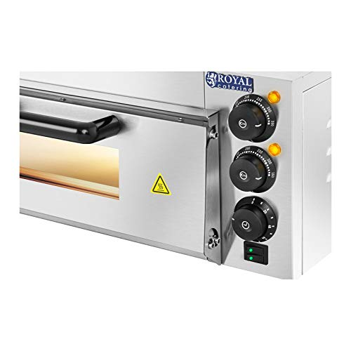 Royal Catering RCPO-2000-1PE Pizzaofen 2.000 W 1 Kammer Schamotte...