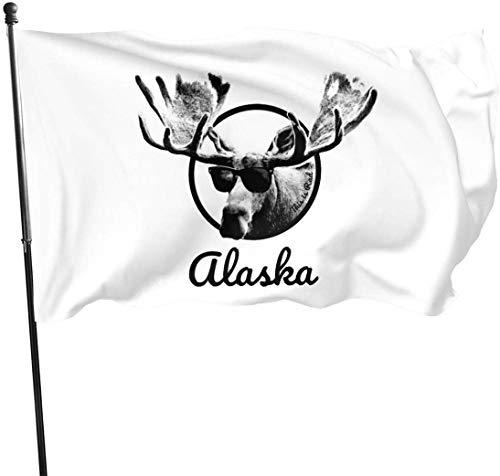 Viplili Alaska est Rad Home Garden Flag pour la Maison extérieure Porch Bienvenue décoration de Vacances, Fit Chritmas/Anniversaire/Happy New, 3x5ft