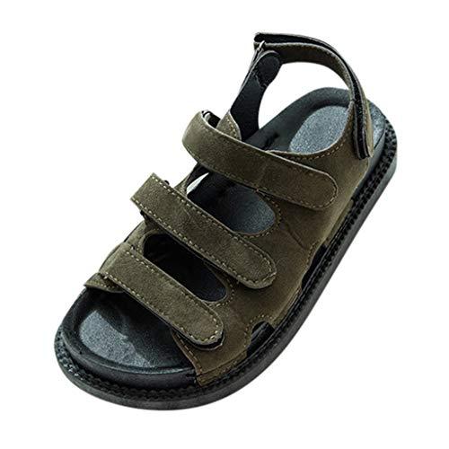 SANFASHION Damen Sommer Roman Sandalen Open Toe Strand Pantoletten Veloursleder Outdoor Flach Sandaletten